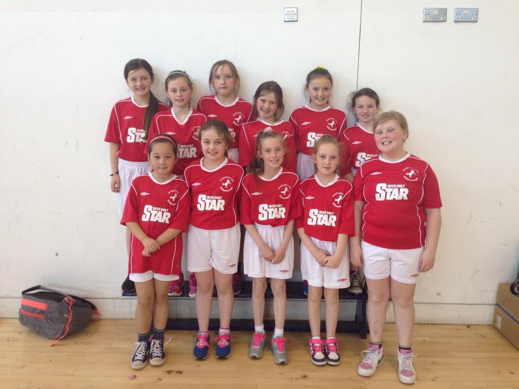 The Under 10 handball team