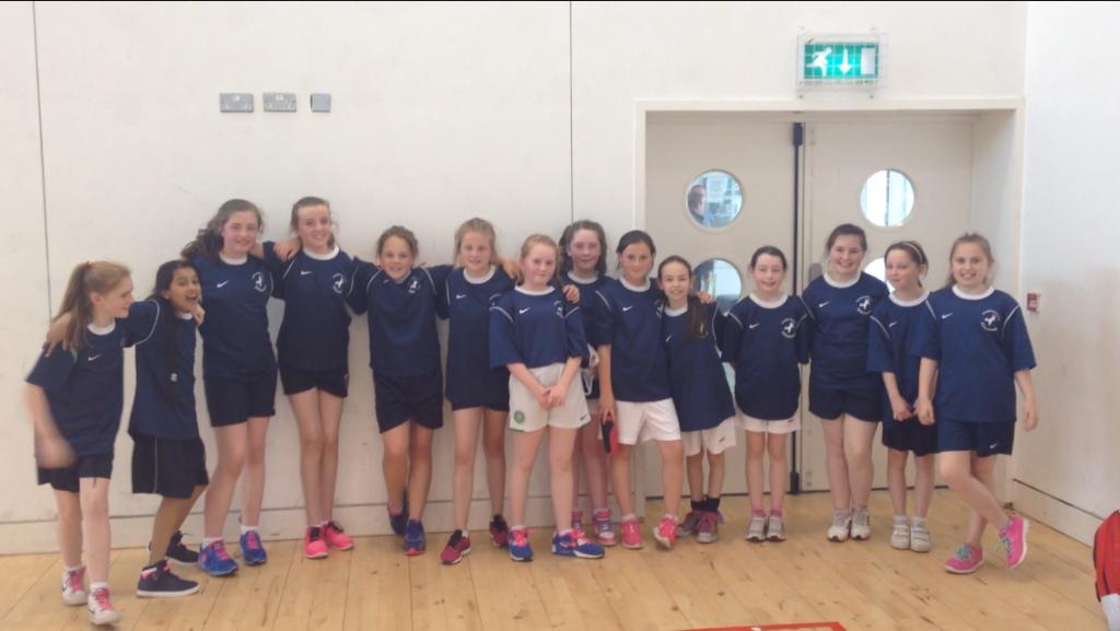 The Under 11 handball team