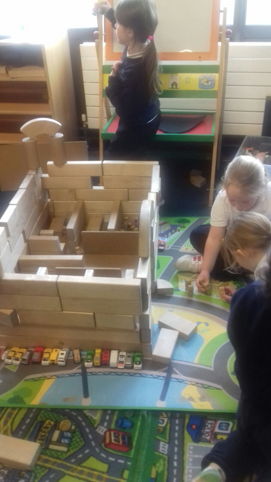 Building the hospital.